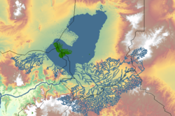«Большой Чад», озеро в период максимального распространения, голоцен