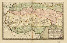 Карта Западной Африки Николя Сансона 1679 года