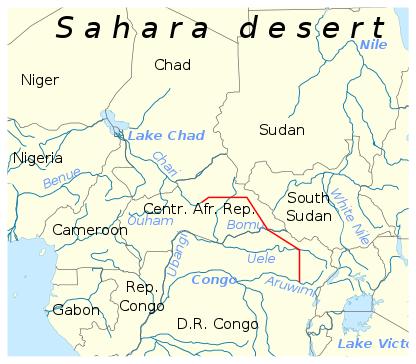 Проект Трансаква (красный) по переброске рек