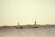 Рыбаки канури. Фотография 1970-х годов.