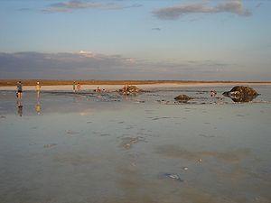 Солевые ванны на озере
