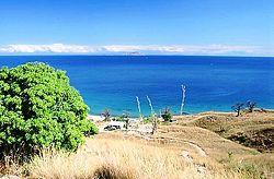 Вид на озеро с острова Ликома