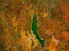 Снимок озера из NASA World Wind.
