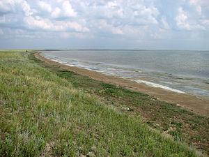 Северный берег озера Ульжай.