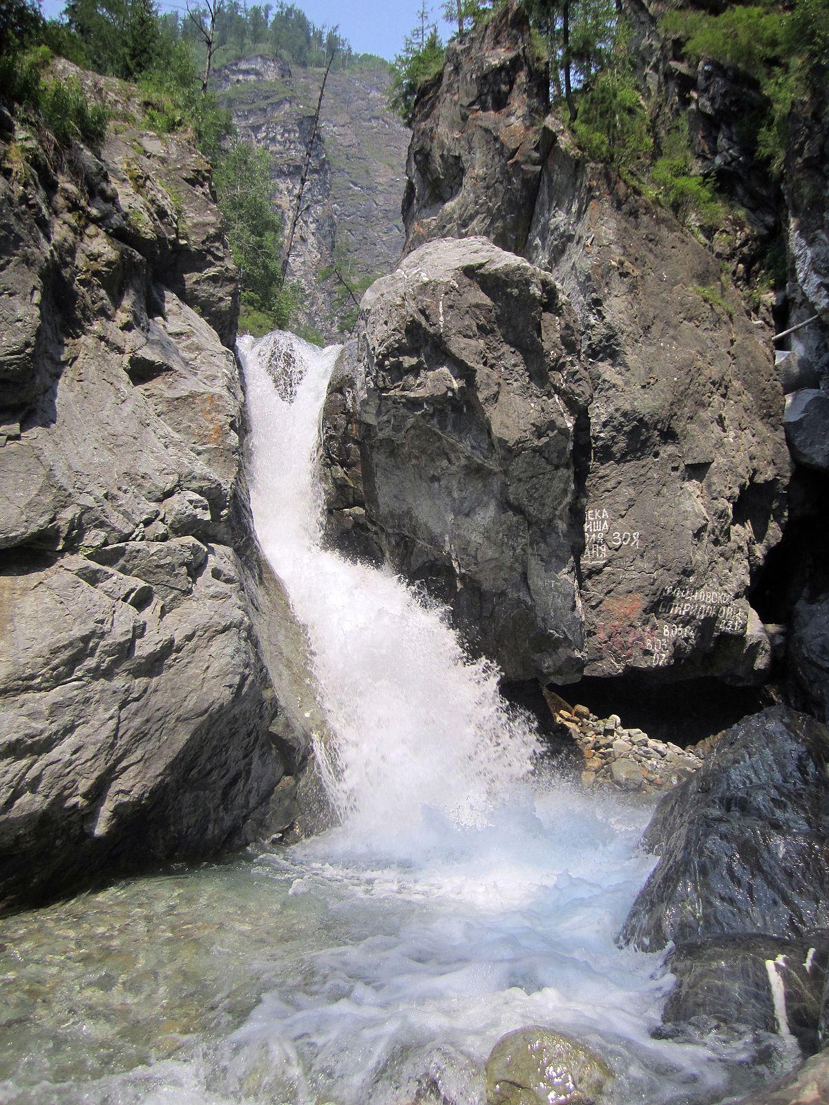 Водопады на реке Кынгарга