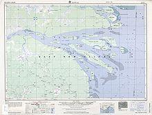 Карта дельты реки.