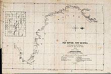 Карты реки, составленная в 1876 году д'Альбертисом.