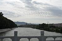 Вид на Эрцисыхэ в посёлке Кёктокай в Синьцзяне (Китай)