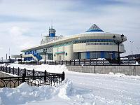 Речной вокзал на Иртыше в Ханты-Мансийске