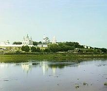 Исеть у стен Далматовского монастыря на фото Прокудина-Горского; 1910 год
