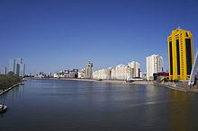 Река Ишим в Нур-Султане