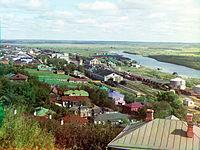 Вид на Владимирский вокзал и Клязьму в 1911 году, фото Прокудина-Горского