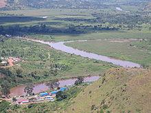 Кагера при слиянии рек Ньяваронго и Рувуву