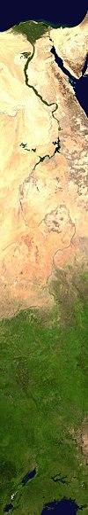 Бассейн Нила из космоса