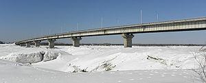 Коммунальный (Старый, Южный) мост через Томь в Томске.