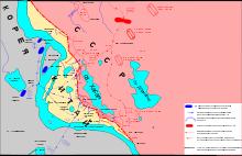 Карта боевых действий в районе реки Туманной и озера Хасан (1938)