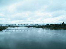 Уссури в Лесозаводске, мост на Транссибе